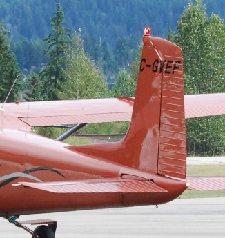 The plane for skydiving in Golden, British Columbia, Canada.